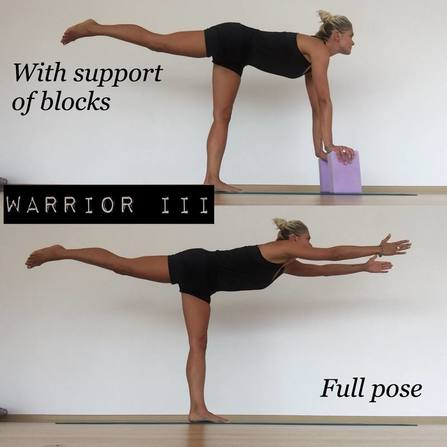 Warrior III pose