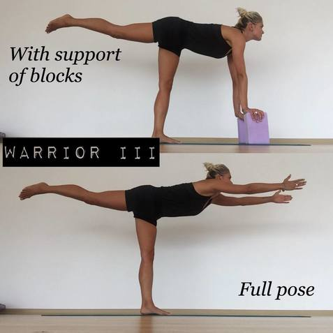 Warrior III yoga