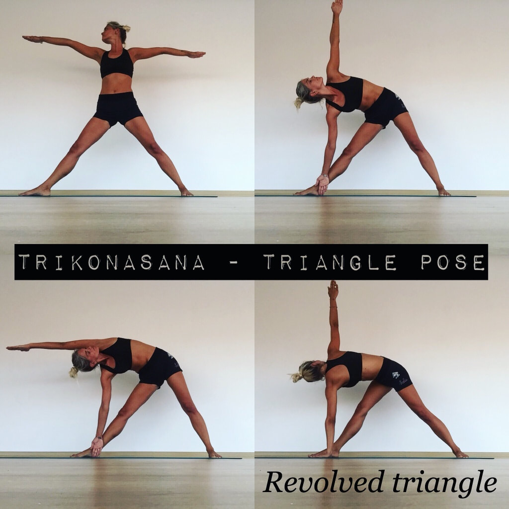 Triangle pose sequence